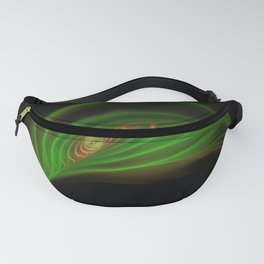 Gold Green Peacock Feather Fanny Pack