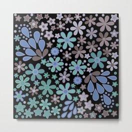 Retro. Floral motifs 3 Metal Print