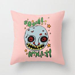 social anxiety Throw Pillow