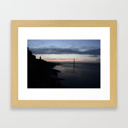 Cristo Rei Sunset Framed Art Print