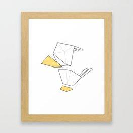 Little Simple Bird Framed Art Print