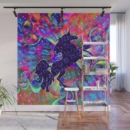 UNICORN OF THE UNIVERSE multicolored Wall Mural