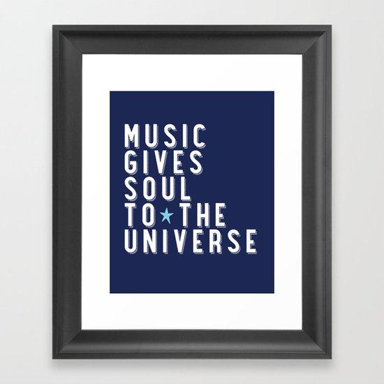 Music is Soul Framed Art Print