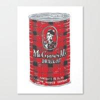 ale giorgini Canvas Prints featuring McGraws Ale by Moto