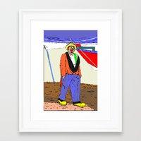 clown Framed Art Prints featuring clown by Karl-Heinz Lüpke