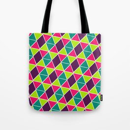 Berry Geo Triangles Tote Bag