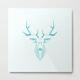 moose geometric architectural green in nature Metal Print