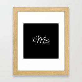 Mrs (Black) Framed Art Print