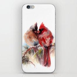 Cardinal Birds Couple iPhone Skin