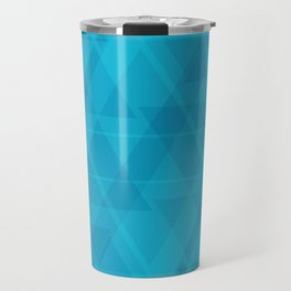 Gentle light blue triangles in the intersection and overlay. Travel Mug