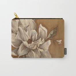 Magnolia on Wood Carry-All Pouch