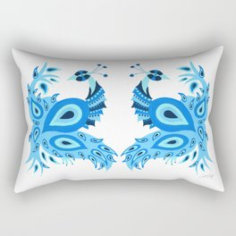 Peacock – Ice Blue Palette Rectangular Pillow
