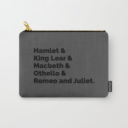 Shakespeare Plays II Carry-All Pouch