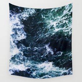 Wild ocean waves Wall Tapestry