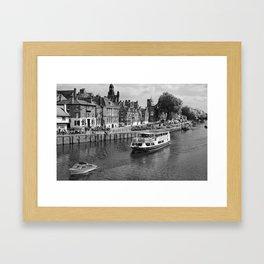 King's Staith beside the river Ouse Framed Art Print