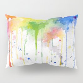 RainbowColor Burst 1 - Watercolor #Society6 Pillow Sham