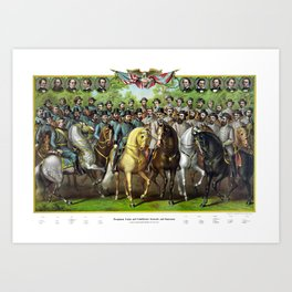 Prominent Union and Confederate Generals and Statesman Art Print