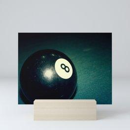 Eight Ball-Teal Mini Art Print