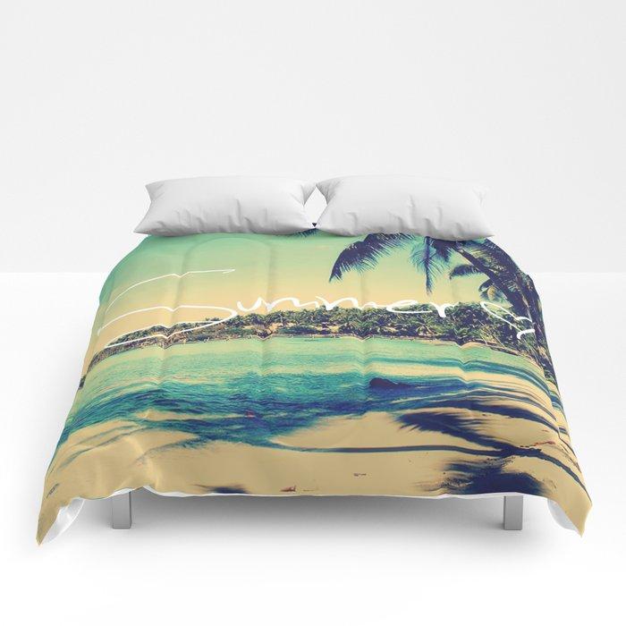 Summer Love Vintage Beach Comforters