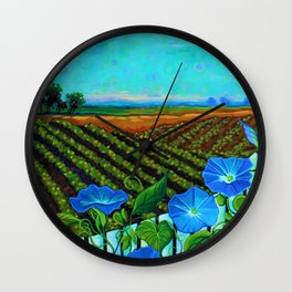 Blue Sky Smiling Wall Clock