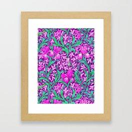 William Morris Irises, Amethyst Purple Framed Art Print