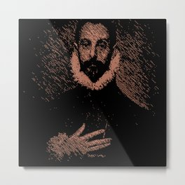 """""""Noble man with his hand on his chest"""" by El Greco. Metal Print"""