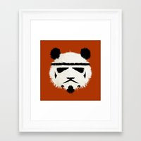 trooper Framed Art Prints featuring Panda Trooper by Danny Haas