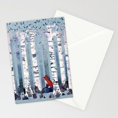 The Birches (in Blue) Stationery Cards