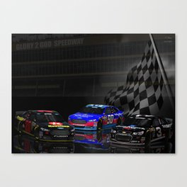 Yes, they have #NASCAR in Heaven! Canvas Print