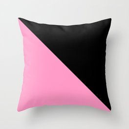 Just two colors 1: pink and black Throw Pillow
