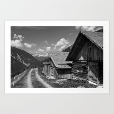 Cabins in Tirol Art Print