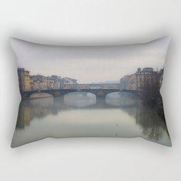 Bridge Gap Over Arno Rectangular Pillow