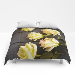 Country Yellow Roses Comforters