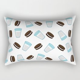 Oreo and milk pattern Rectangular Pillow