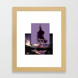 Purple forgiveness Framed Art Print