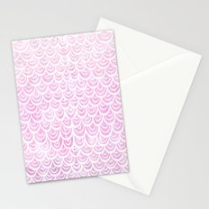 Watercolor Mermaid Fairytale Pink Stationery Cards