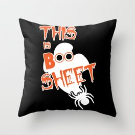 This Is Boo Sheet Throw Pillow