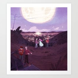 Mulholland Marriage  Art Print