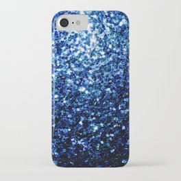 Beautiful Dark Blue glitter sparkles iPhone Case