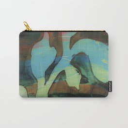 Organic shape over blue and green Carry-All Pouch
