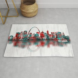 St. Louis Missouri Skyline Rug