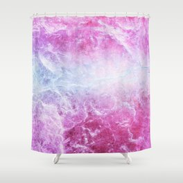 Enigmatic Pink Purple Blue Marble #1 #decor #art #society6 Shower Curtain