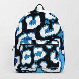 Black and Blue Leopard Spots Backpack