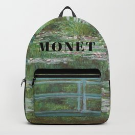 Claude Monet, Japanese Footbridge over the Water Lily Pond Backpack