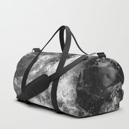 Ocean Glow - Black and White Nature Photography Duffle Bag
