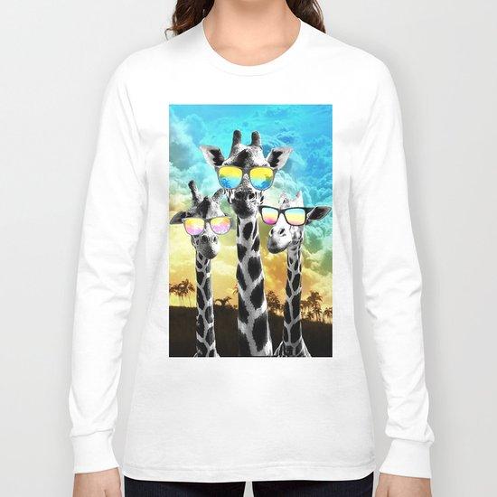 Crazy Cool Giraffe Long Sleeve T-shirt