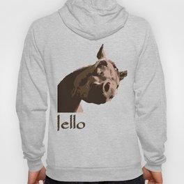 funny horse hello Hoody