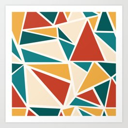 Mod Geo: Triangles Art Print