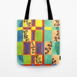 Underwater Impression in Rectangles Tote Bag