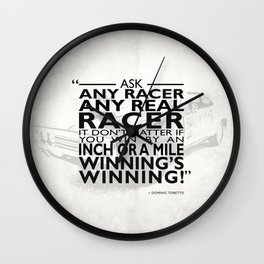 Ask Any Racer Wall Clock
